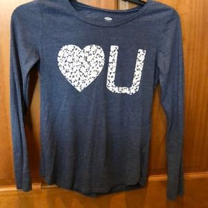 Super cute Old Navy 10-12 long sleeve tee